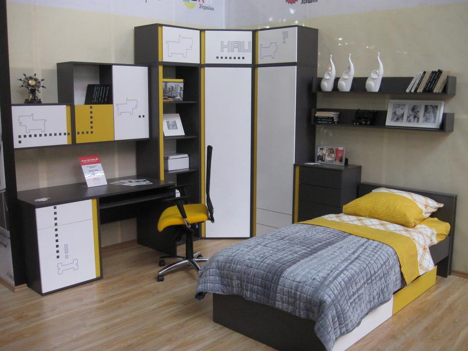 Набор мебели для молодежной комнаты, детской ГРАФИК (GRAPHIC)