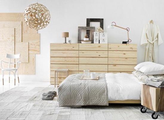 При использовании мебели в скандинавском стиле, ее выбирают как правило «застаренной»