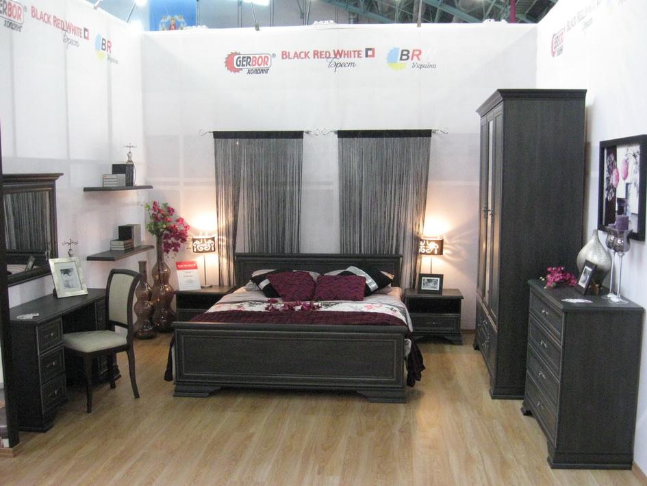 Набор мебели для спальни КЕНТАКИ (KENTAKI) в темном цвете