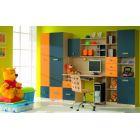 Стенка детская 4, ТВИСТ, горка, набор мебели для детской,  (TWIST), BRW ( БРВ ), РБ
