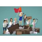 Реклама офисной мебели - ролик-мультфильм