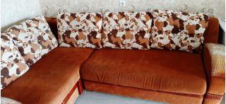 Продаю набор мягкой мебели: угловой диван и кресло БУ в Минске