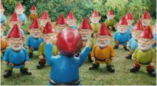 Нашествие садовых гномов - рекламный ролик IKEA