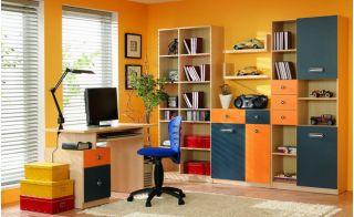 Стенка детская 1, ТВИСТ, горка, набор мебели для детской,  (TWIST), BRW ( БРВ ), РБ