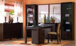 Набор мебели для домашнего кабинета 1, СОРРЕНТО ( SORRENTO ), BRW ( БРВ ), РБ