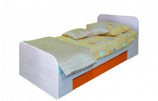 Кровать детская LOZ 90, односпальная CHEESE ( ЧИЗ ), BRW ( БРВ ), РБ