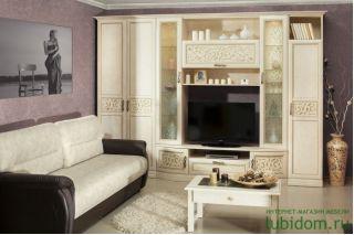Набор мебели для гостиной Кожа Ленто, АЛЕКСАНДРИЯ гостиная, Алмаз (Любимый дом), Россия