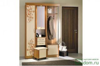 Мебель в прихожую Елена 1,3 софт с рисунком правая ЛД 106.000, ольха, Алмаз (Любимый дом), Россия