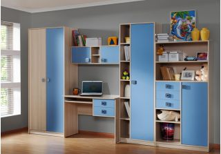 Детская мебель голубая TRENDY (ТРЭНДЫ), БРВ (Black Red White), Беларусь