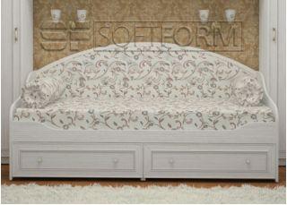 Белая тахта-кровать 30, СТРЕКОЗА, Софтформ (Softform), Беларусь
