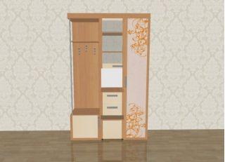 Мебель в прихожую Елена 1,3 софт с рисунком левая ЛД 106.000, ольха, Алмаз (Любимый дом), Россия
