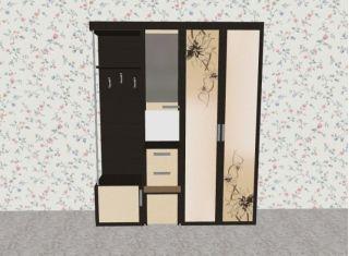 Мебель в прихожую Елена1,7 софт с рисунком левая ЛД 117.000, венге, Алмаз (Любимый дом), Россия