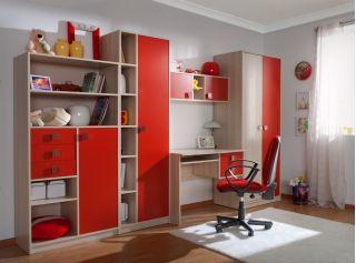 Детская стенка красная TRENDY (ТРЭНДЫ), БРВ (Black Red White), Беларусь