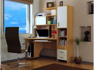 Компьютерный стол «Бэйсик Скул» левый, ольха, Алмаз (Любимый дом), Россия