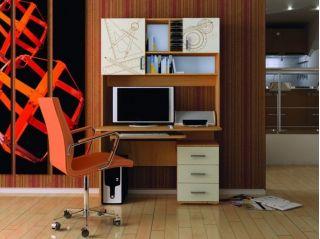 Компьютерный стол «Бэйсик Смарт» левый, бук, Алмаз (Любимый дом), Россия