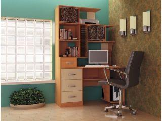 Компьютерный стол «Бэйсик Макси» правый, ольха, Алмаз (Любимый дом), Россия