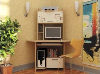 Компьютерный стол «Бэйсик Компакт», бук, Алмаз (Любимый дом), Россия