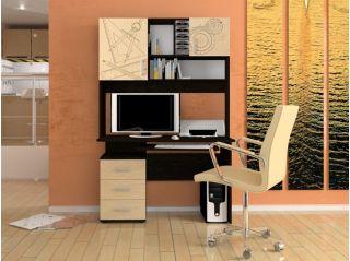 Компьютерный стол «Бэйсик Смарт» правый, венге, Алмаз (Любимый дом), Россия
