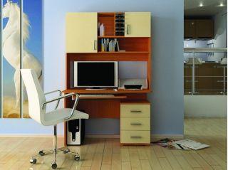 Компьютерный стол «Бэйсик Смарт» левый, ольха, Алмаз (Любимый дом), Россия