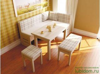 Кухонный уголок Сонома светлая, СИТИ (мебель кухонная), Алмаз (Любимый дом), Россия