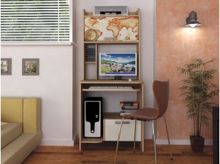 Компьютерный стол «Бэйсик Гео», бук, Алмаз (Любимый дом), Россия