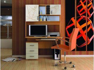 Компьютерный стол «Бэйсик Смарт» правый, бук, Алмаз (Любимый дом), Россия