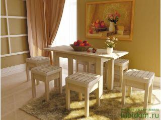 Обеденная зона для кухни Сонома светлая, СИТИ (мебель кухонная), Алмаз (Любимый дом), Россия