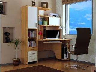 Компьютерный стол «Бэйсик Скул» правый, ольха, Алмаз (Любимый дом), Россия