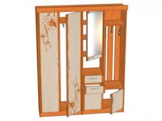 Мебель в прихожую Елена1,6 софт с рисунком ЛД 107.000, ольха, Алмаз (Любимый дом), Россия