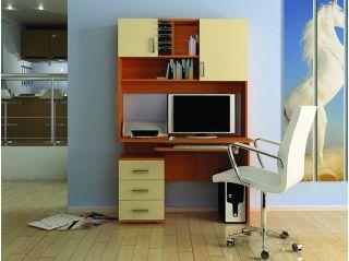 Компьютерный стол «Бэйсик Смарт» правый, ольха, Алмаз (Любимый дом), Россия