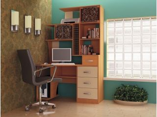 Компьютерный стол «Бэйсик Макси» левый, ольха, Алмаз (Любимый дом), Россия