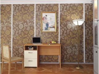 Стол письменный однотумбовый, ольха, Алмаз (Любимый дом), Россия