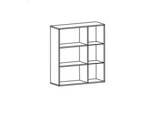 Шкаф настенный S164-SFW1W1D/11/10 L, СОМАТИК (SOMATIC), БРВ (Black Red White), Беларусь