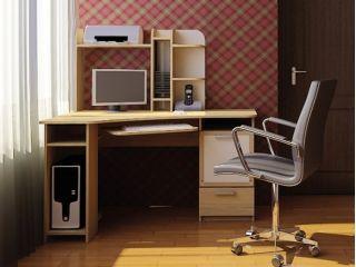Компьютерный стол «Бэйсик Классик», бук, Алмаз (Любимый дом), Россия