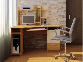 Компьютерный стол «Бэйсик Классик», ольха, Алмаз (Любимый дом), Россия