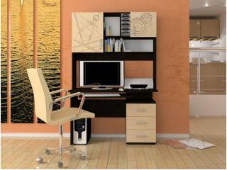 Компьютерный стол «Бэйсик Смарт» левый, венге, Алмаз (Любимый дом), Россия