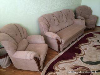 Продаю диван с 2 креслами БУ в Минске