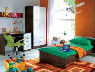 Набор мебели RINGO-1 для детской, молодежной комнаты, ( РИНГО ), BRW ( БРВ ), РБ