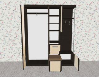 Мебель в прихожую Елена1,7 софт с рисунком правая ЛД 117.000, венге, Алмаз (Любимый дом), Россия