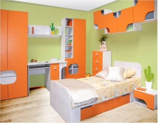 Набор мебели для детской CHEESE-1, молодежная комната  ( ЧИЗ ), BRW ( БРВ ), РБ