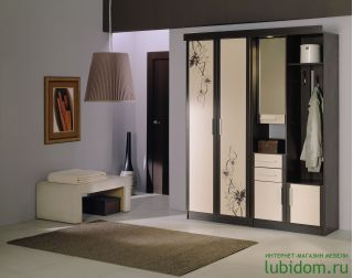 Мебель в прихожую Елена1,6 софт с рисунком ЛД 107.000, венге, Алмаз (Любимый дом), Россия