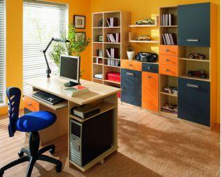 Стенка детская 2, ТВИСТ, горка, набор мебели для детской,  (TWIST), BRW ( БРВ ), РБ
