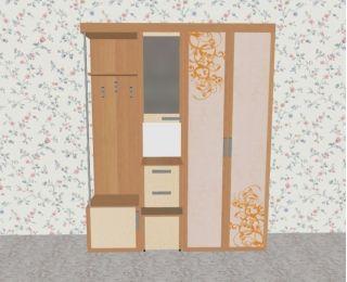 Мебель в прихожую Елена1,7 софт с рисунком левая ЛД 117.000, ольха, Алмаз (Любимый дом), Россия