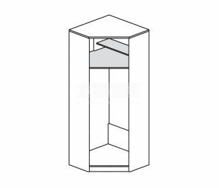 Шкаф для одежды угловой С-44, СИМБА СОФТ (прихожие), Столплит, Россия