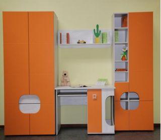 Набор мебели для детской CHEESE-2, молодежная стенка, горка  ( ЧИЗ ), BRW ( БРВ ), РБ