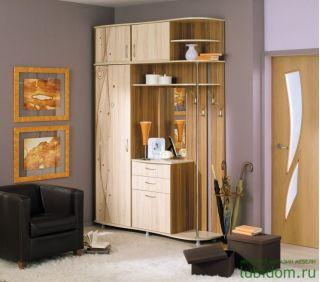 Мебель для прихожей Грация 1,7 ЛДСП с рисунком ЛД 115.000, Слива / Сантана, Алмаз (Любимый дом), Россия