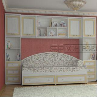 Стенка для ребенка 20, СТРЕКОЗА, Софтформ (Softform), Беларусь