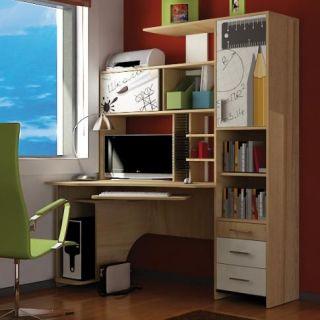 Компьютерный стол «Бэйсик Скул» левый, бук, Алмаз (Любимый дом), Россия