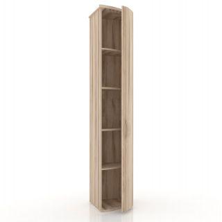 Шкаф окончание с гнутой дверью правый ЛД 124.070, МАРТА прихожая, Алмаз (Любимый дом), Россия