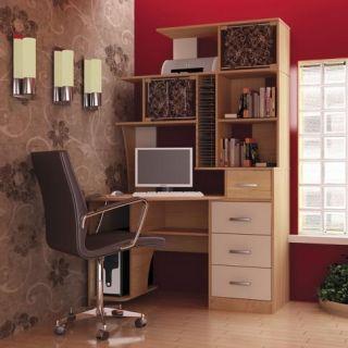Компьютерный стол «Бэйсик Макси» левый, бук, Алмаз (Любимый дом), Россия